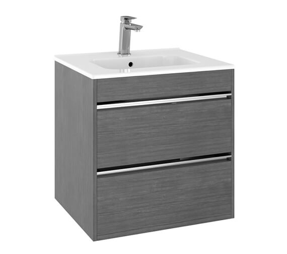 Crosswater Kai Double Drawer Wall Hung Vanity Unit