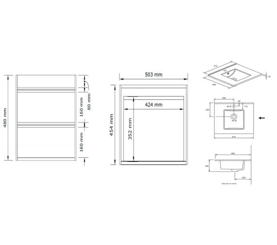 Technical drawing QS-V104403 / KL5200DGO