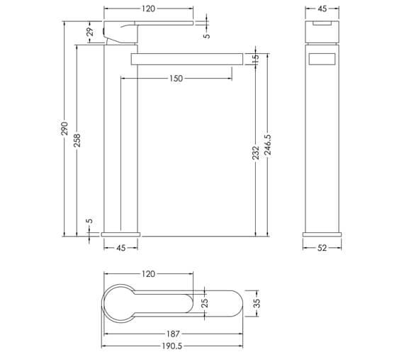 Technical drawing QS-V98620 / ARV370