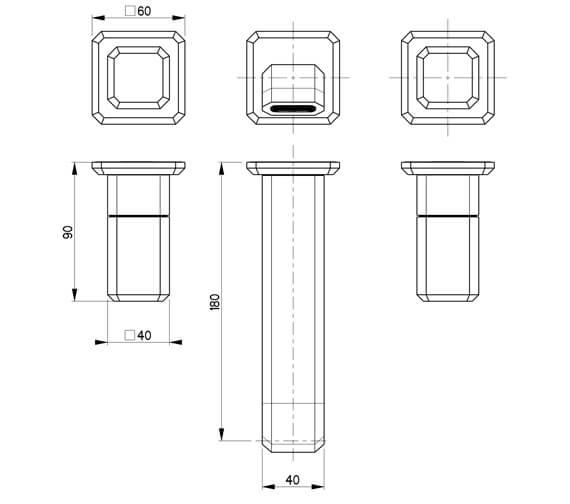 Technical drawing QS-V104416 / IT130TRIMC-C