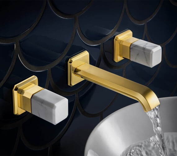 Crosswater Italy Wall Mounted 3 Hole Basin Tap