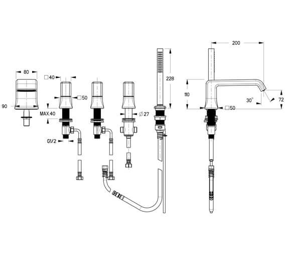 Technical drawing QS-V104418 / IT450DNC-C