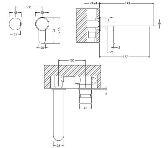 Technical drawing QS-V98622 / ARV381