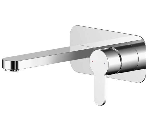 Additional image of Nuie Arvan Wall Mounted 2 Hole Basin Mixer Tap