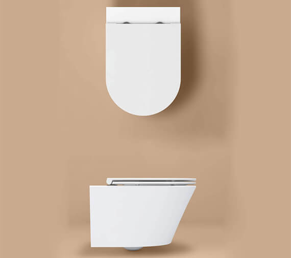 Additional image of IMEX Arco Rimless Projection Wall Hung WC Pan