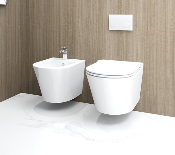 Alternate image of IMEX Arco Rimless Projection Wall Hung WC Pan