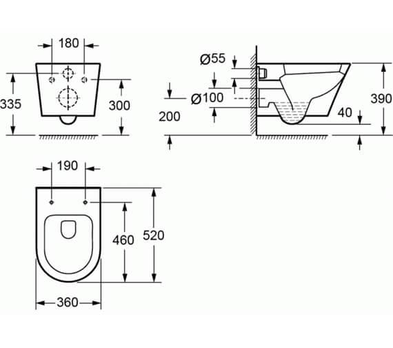 Technical drawing QS-V92130 / CH1088AR