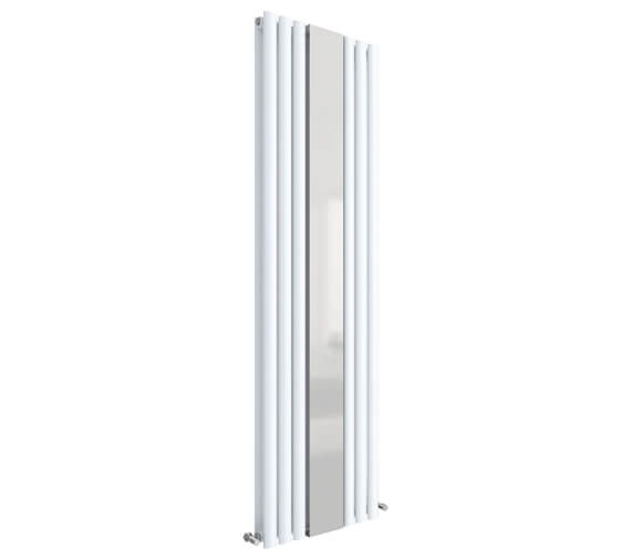 Additional image of Hudson Reed Revive Double Panel Vertical Designer Radiator With Mirror