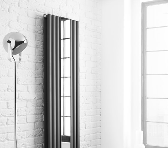 Hudson Reed Revive Double Panel Vertical Designer Radiator With Mirror