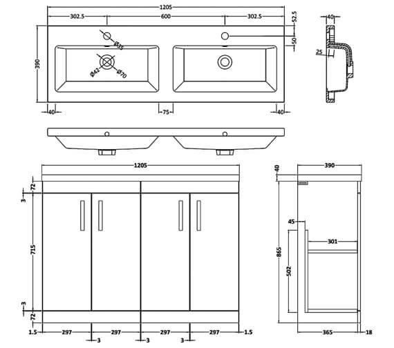 Technical drawing QS-V42487 / ATH027C
