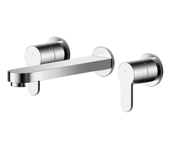Nuie Arvan 3 Hole Wall Mounted Basin Mixer Tap