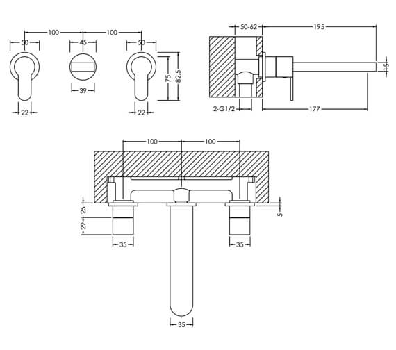 Technical drawing QS-V98623 / ARV317