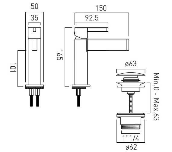 Technical drawing QS-V86453 / EDI-100/SB-C/P