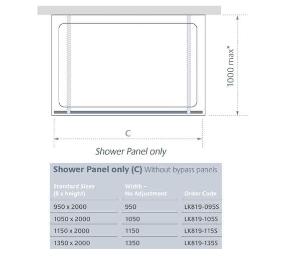 Technical drawing QS-V86253 / LK819-095S