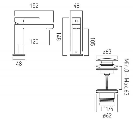 Technical drawing QS-V94017 / NOT-200/SB-C/P
