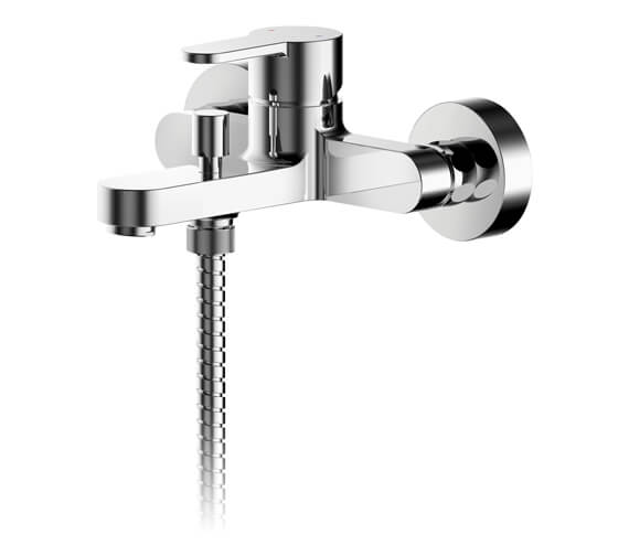 Nuie Arvan Single Lever Wall Mounted Bath Shower Mixer Tap With Kit