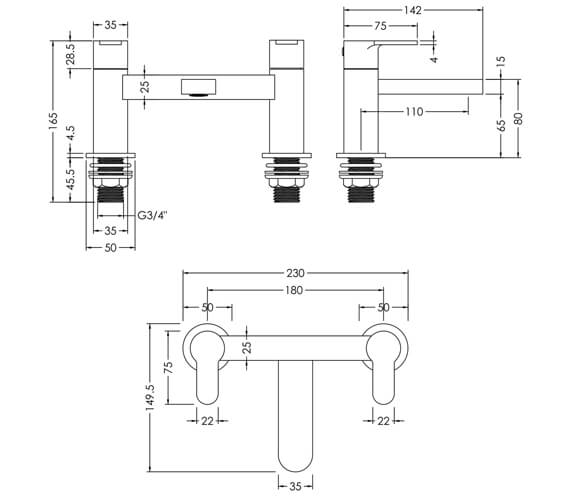 Technical drawing QS-V98625 / ARV303