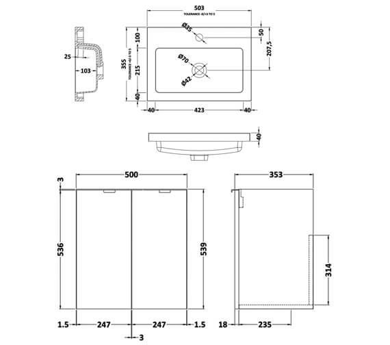 Technical drawing QS-V98042 / CBI140