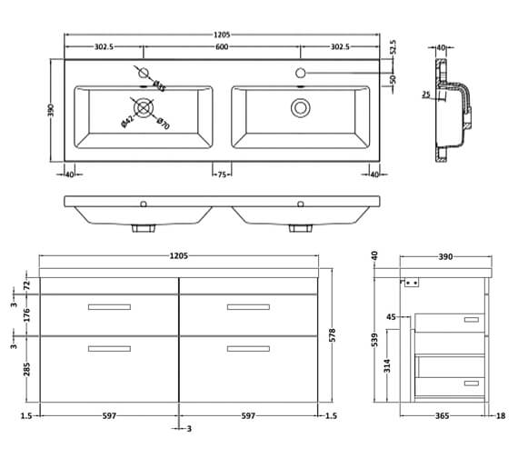 Technical drawing QS-V42491 / ATH048C