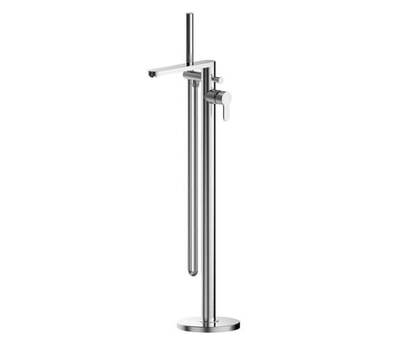 Nuie Arvan Floor Standing Bath Shower Mixer Tap With Kit
