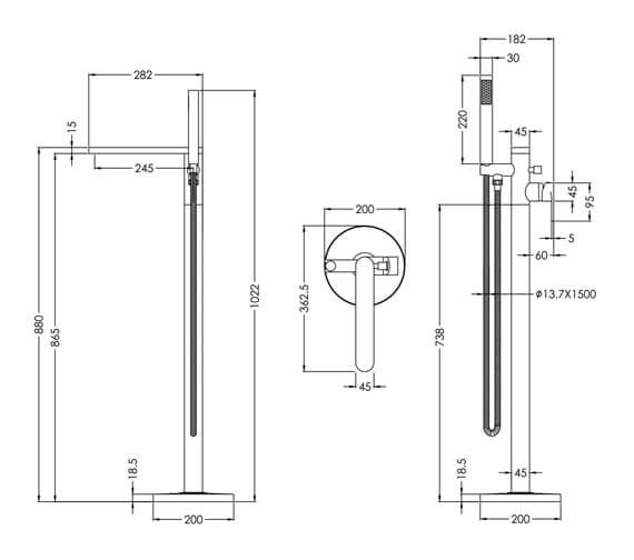 Technical drawing QS-V98632 / ARV321
