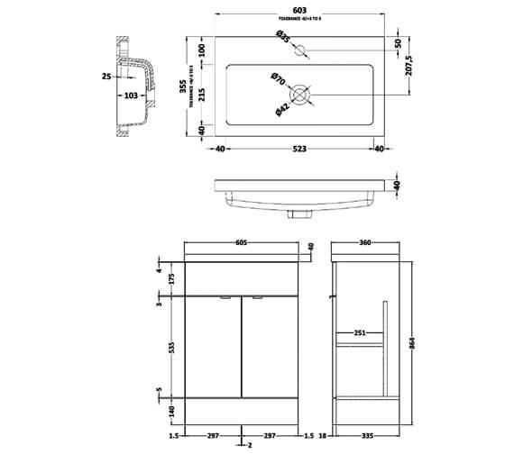 Technical drawing QS-V90348 / CBI124