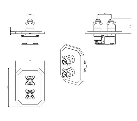 Technical drawing QS-V104404 / BLCB1000LBPC