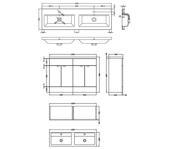 Technical drawing QS-V95208 / CBI134