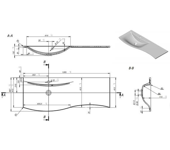 Technical drawing QS-V88667 / SE1000SDWG+