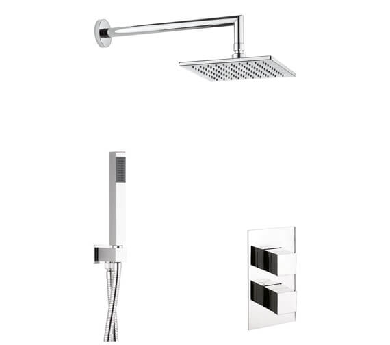 Crosswater Water Square 2 Outlet 2 Handle Shower Set