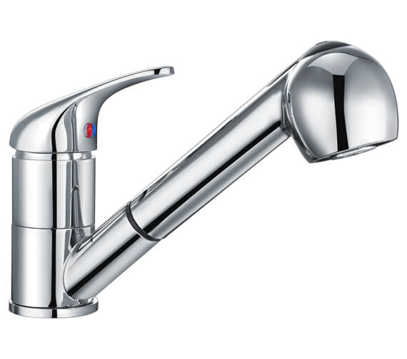 Nuie Eon Mono Sink Mixer With Pull Out Rinser - KA307