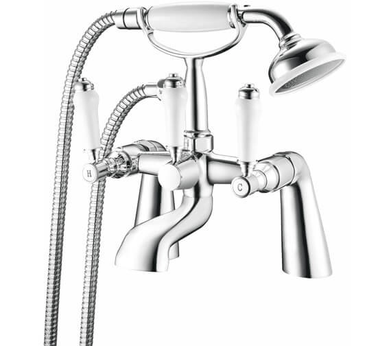 Nuie Bloomsbury Deck Mounted Bath Shower Mixer Tap With Kit