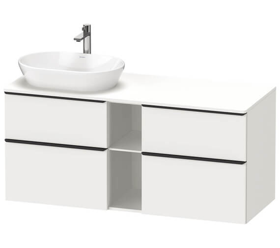 Duravit D-Neo 1400mm Wide 4 Drawer Wall Mounted Vanity Unit