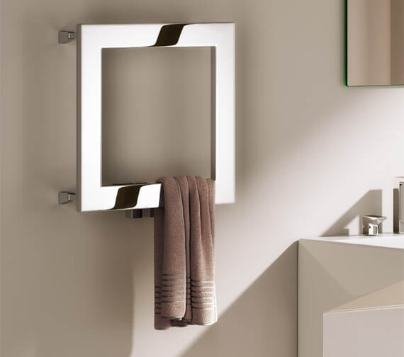 Reina Square 450 x 450mm Polished Stainless Steel Radiator