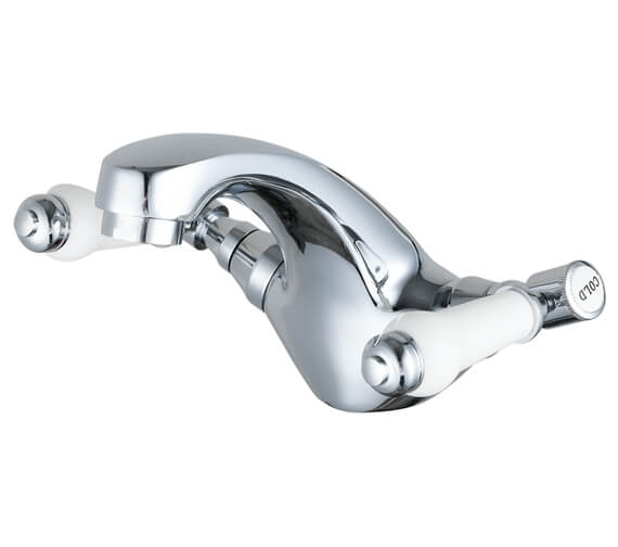 Nuie Bloomsbury Mono Basin Mixer Tap With Push Button Waste - XM305