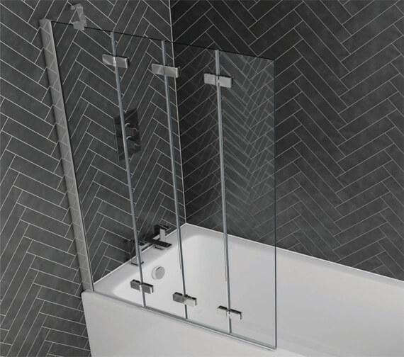 Aquadart Venturi 6 Frameless 4 Fold Bath Screen