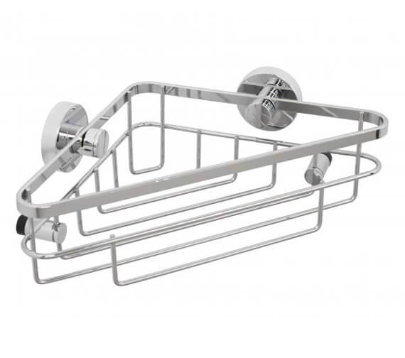 Croydex Brockham Flexi-Fix Single Corner Basket