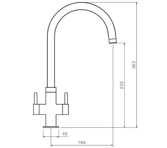 Technical drawing QS-V18832 / TMR1CM/