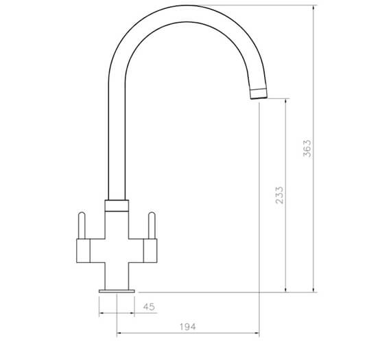 Technical drawing QS-V89160 / TPM1CM/