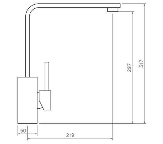 Technical drawing QS-V18847 / TQSL1CM/