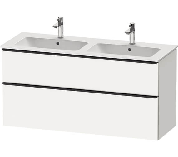 Duravit D-Neo 1280mm Wide 2 Drawer Wall Mounted Vanity Unit For Me By Starck Basin