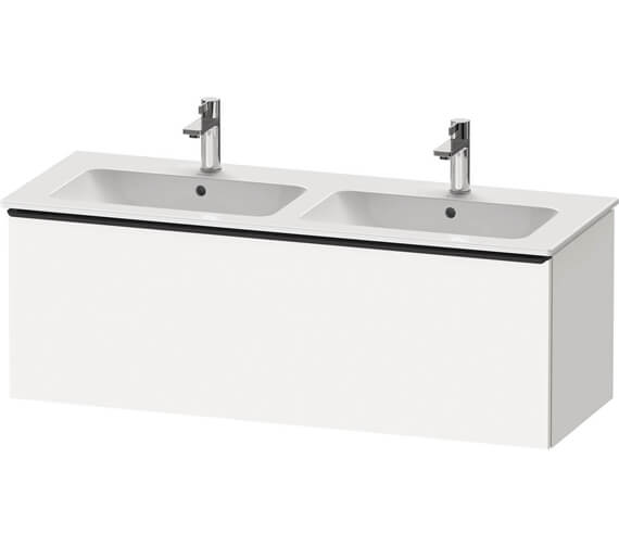 Duravit D-Neo 1280mm Wide Wall Mounted Vanity Unit For Double Washbasin