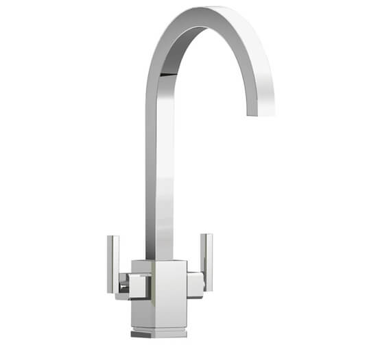 Rangemaster Quadrant Monobloc Dual Lever Kitchen Sink Mixer Tap