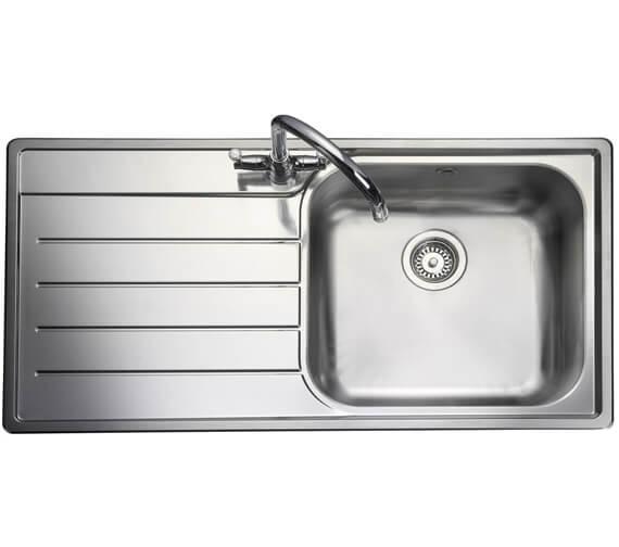 Rangemaster Oakland 985 x 508mm Stainless Steel 1.0B Inset Kitchen Sink