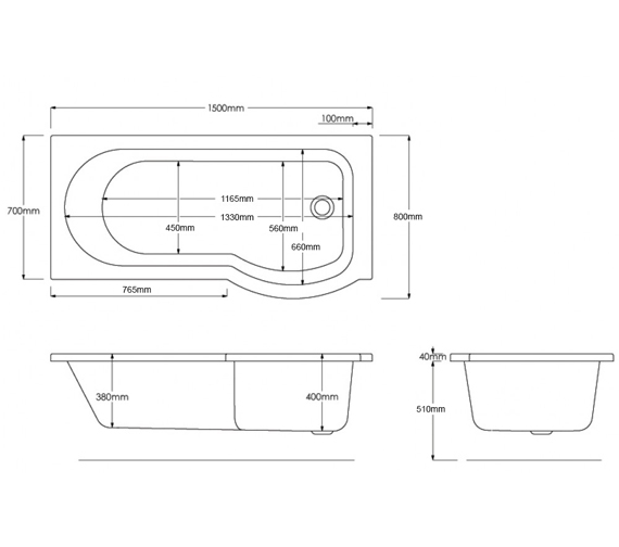 Technical drawing QS-V80256 / PBCUSB1500LH