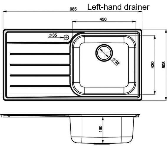 Technical drawing QS-V11034 / OL9851L/