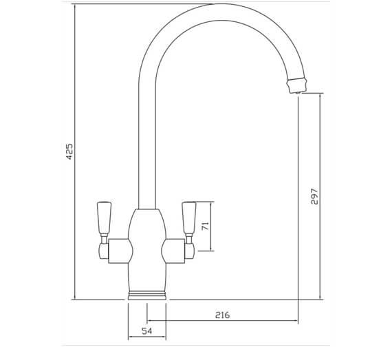 Technical drawing QS-V84420 / GEO43CLACM/
