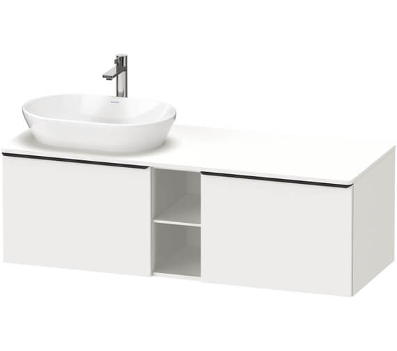 Duravit D-Neo 2 Drawer 1400mm Wide Wall Mounted Vanity Unit