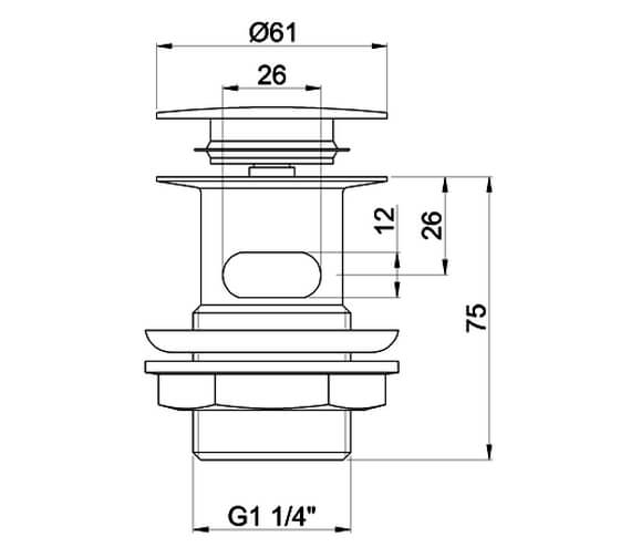 Technical drawing QS-V73064 / W11