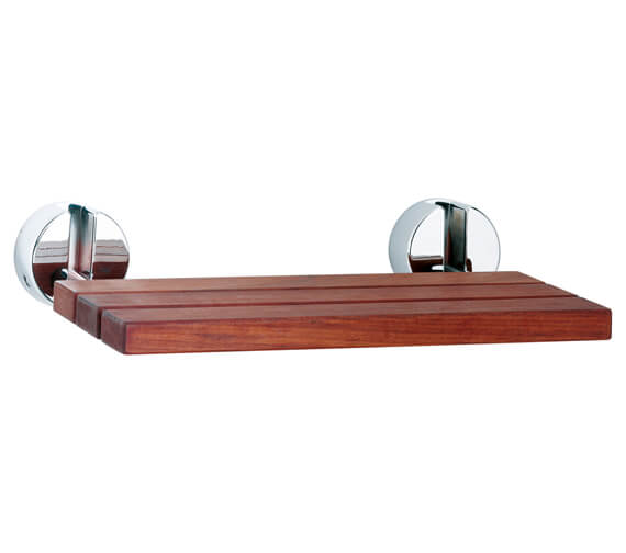 Hudson Reed Wooden Seat With Chrome Hinges